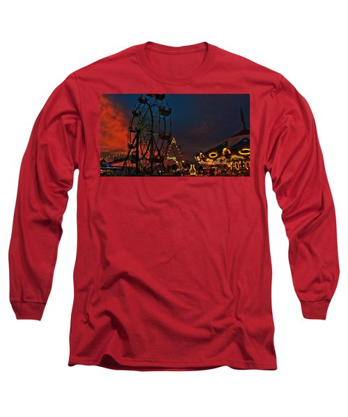 Twilight On The Midway  Long Sleeve T-Shirt by John Harding