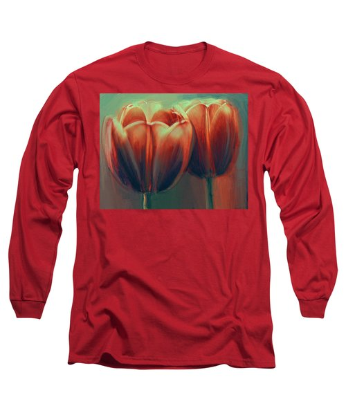 Twin Tulips Long Sleeve T-Shirt