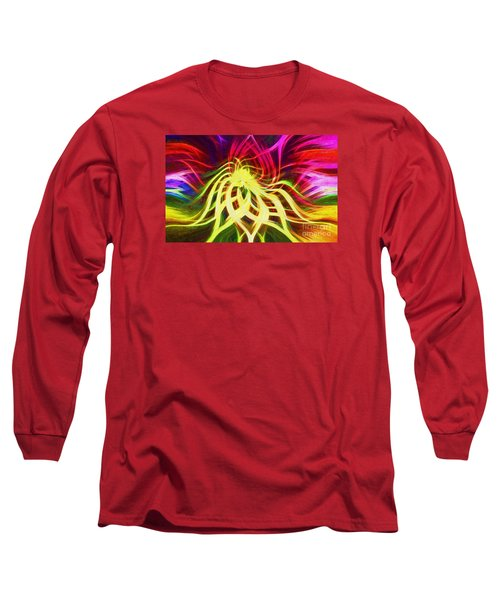 Long Sleeve T-Shirt featuring the photograph Twirly Mandala 01 by Jack Torcello