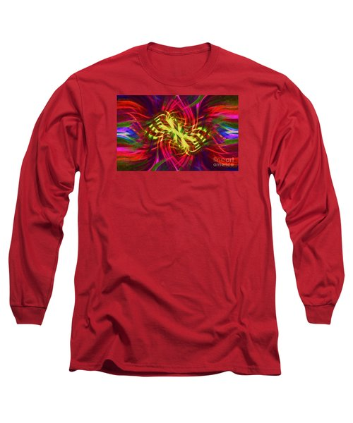 Long Sleeve T-Shirt featuring the photograph Twirly Mandala 02 by Jack Torcello