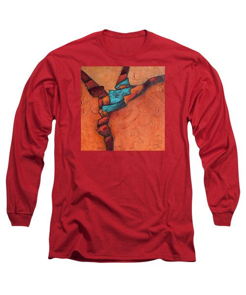 Long Sleeve T-Shirt featuring the painting Twisting by Nancy Jolley