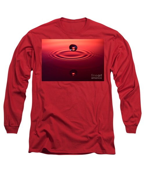 Two Drops And A Ripple Long Sleeve T-Shirt