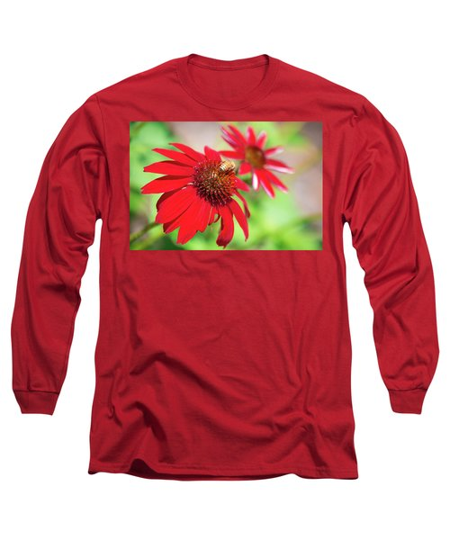 Long Sleeve T-Shirt featuring the photograph Two Flowers For Every Bee by Brian Hale