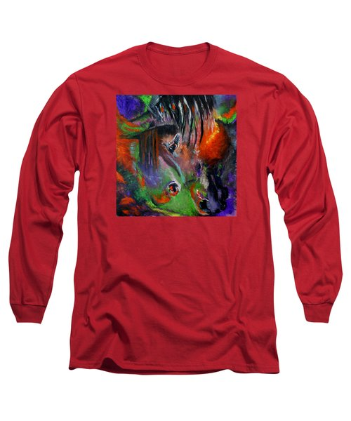 Two Horses Long Sleeve T-Shirt by Maris Sherwood