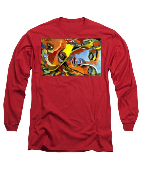 Long Sleeve T-Shirt featuring the painting Two Souls by Helena Wierzbicki