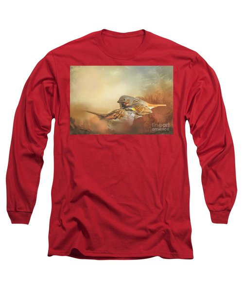 Sparrows In The Marsh 2 Long Sleeve T-Shirt by Janette Boyd