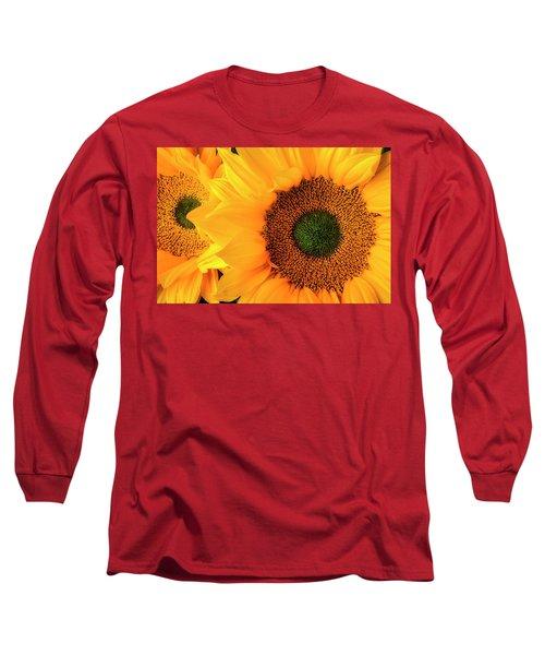 Two Stunning Sunflowers Long Sleeve T-Shirt