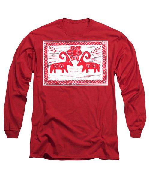 Two Swedish Yule Goats Long Sleeve T-Shirt