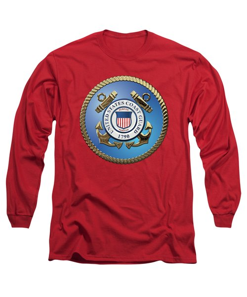 U. S. Coast Guard - U S C G Emblem Long Sleeve T-Shirt