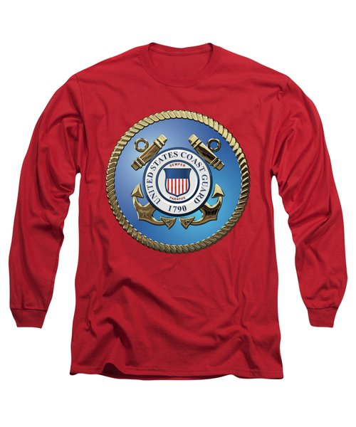 U. S. Coast Guard - U S C G Emblem Long Sleeve T-Shirt