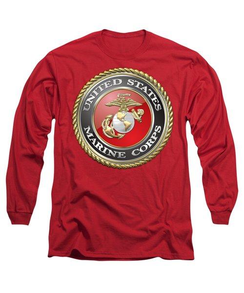 U. S. Marine Corps - U S M C Emblem Long Sleeve T-Shirt