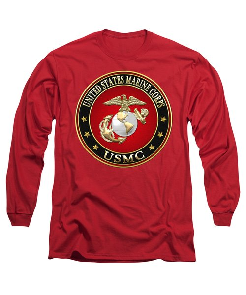 U. S. Marine Corps - U S M C Emblem Special Edition Long Sleeve T-Shirt