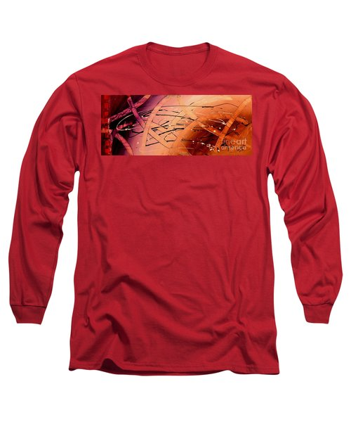Long Sleeve T-Shirt featuring the painting Under The Sea Abstract Modern Art By Saribelle by Saribelle Rodriguez