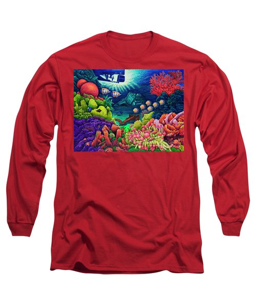 Undersea Creatures Vii Long Sleeve T-Shirt by Michael Frank