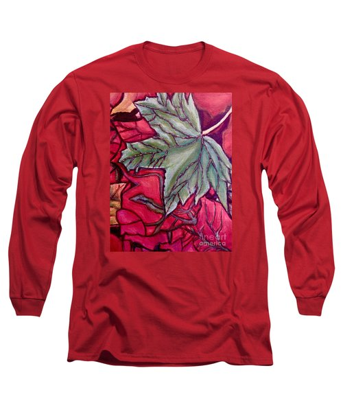 Understudy Of A Fallen Green Maple Leaf In The Fall Long Sleeve T-Shirt by Kimberlee Baxter