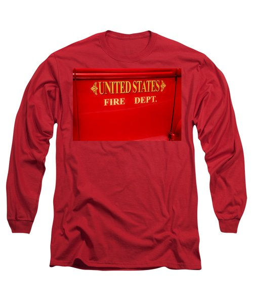 United States Fire Department Engine Long Sleeve T-Shirt by Toni Hopper