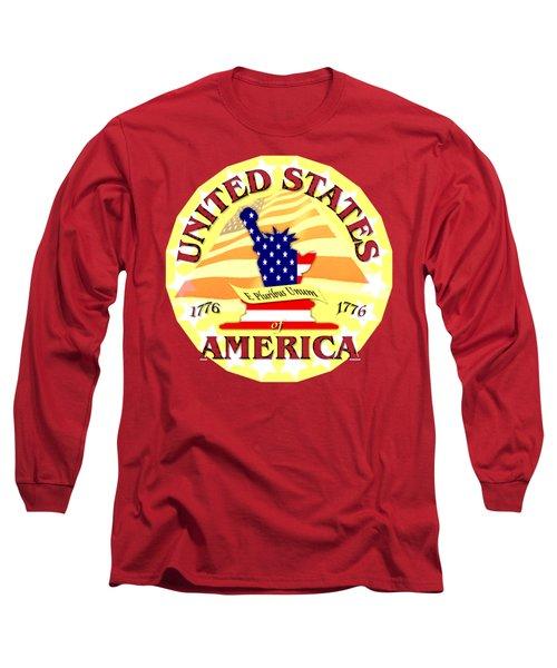 United States Of America Design Long Sleeve T-Shirt