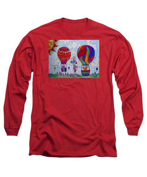 Up Up And Away Long Sleeve T-Shirt by Megan Walsh