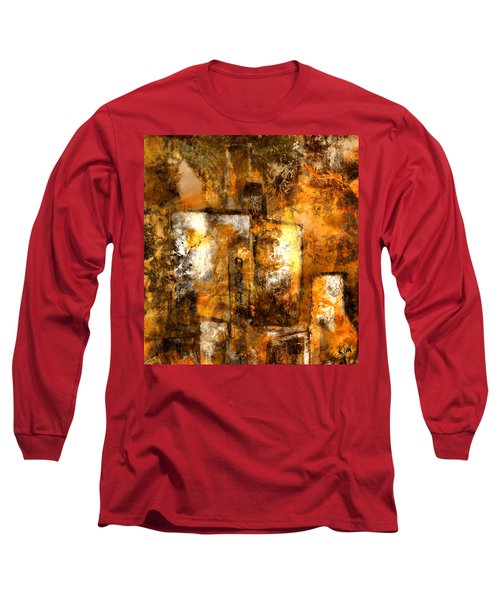 Long Sleeve T-Shirt featuring the mixed media Urban #3 by Kim Gauge