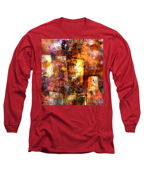 Long Sleeve T-Shirt featuring the mixed media Urban #4 by Kim Gauge