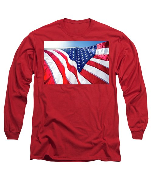 Usa,american Flag,rhe Symbolic Of Liberty,freedom,patriotic,hono Long Sleeve T-Shirt