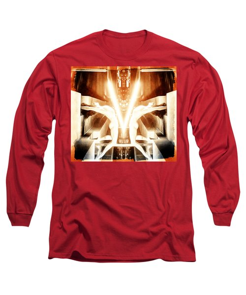 Long Sleeve T-Shirt featuring the digital art V For Victory by Andrea Barbieri
