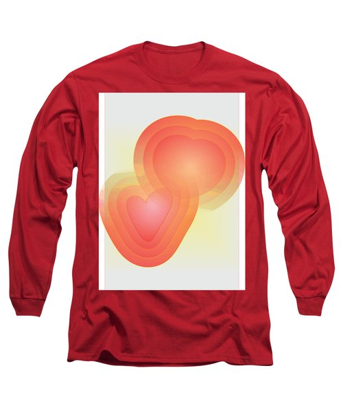 Long Sleeve T-Shirt featuring the digital art Valentine by Sherril Porter