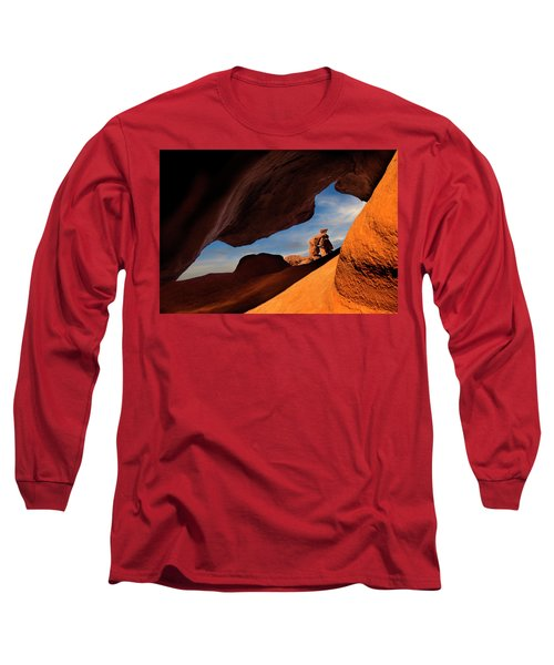 Valley Of Fire Look Through Long Sleeve T-Shirt by Gary Warnimont