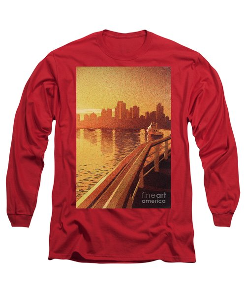 Vancouver Morning- Bc Long Sleeve T-Shirt by Ryan Fox