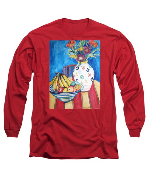 Vase And Bowl Long Sleeve T-Shirt by Esther Newman-Cohen