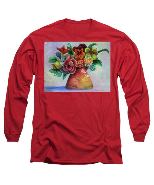 Vase Full Of Peace And Delight Long Sleeve T-Shirt by Terry Honstead