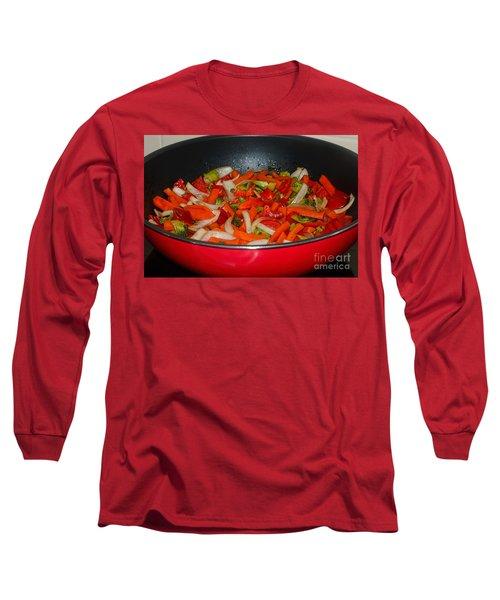 Vegetable Stir Fry By Kaye Menner Long Sleeve T-Shirt by Kaye Menner