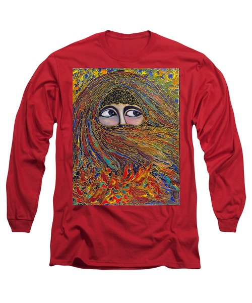 Long Sleeve T-Shirt featuring the painting Veiled by Rae Chichilnitsky
