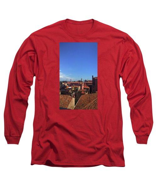 Long Sleeve T-Shirt featuring the photograph Venetian Skyline by Anne Kotan