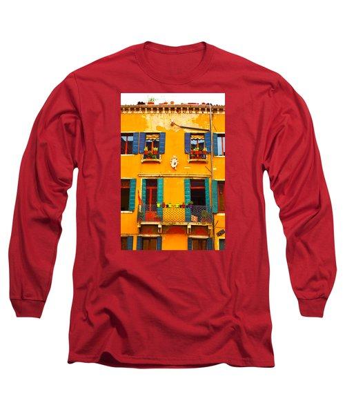 Long Sleeve T-Shirt featuring the photograph Venice Street Scene 1 by Richard Ortolano