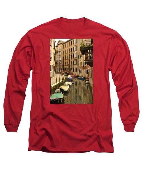 Long Sleeve T-Shirt featuring the photograph Venice Street Scene 2 by Richard Ortolano