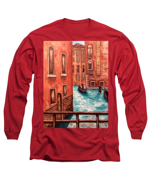 Long Sleeve T-Shirt featuring the painting Venice by Annamarie Sidella-Felts