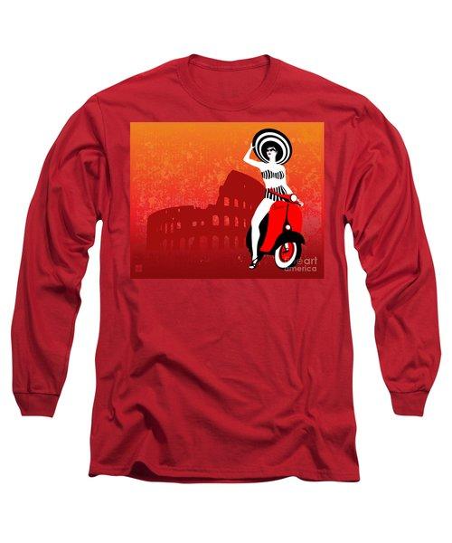 Vespa Girl Long Sleeve T-Shirt