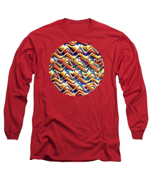 Vibrant Geometric Motif Long Sleeve T-Shirt