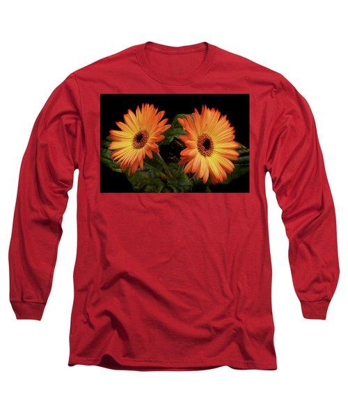 Vibrant Gerbera Daisies Long Sleeve T-Shirt by Terence Davis