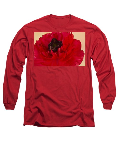 Vibrant Petals Long Sleeve T-Shirt by Sandra Foster