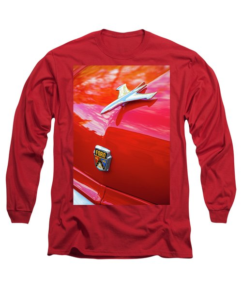 Long Sleeve T-Shirt featuring the photograph Vintage Ford Hood Ornament Havana Cuba by Charles Harden
