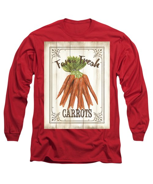 Long Sleeve T-Shirt featuring the painting Vintage Fresh Vegetables 3 by Debbie DeWitt