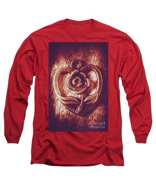 Vintage Ornamental Rose Long Sleeve T-Shirt