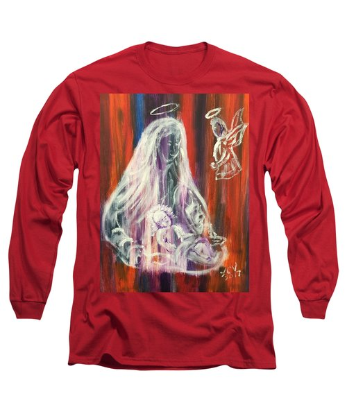 Virgin Mary And Baby Jesus Long Sleeve T-Shirt