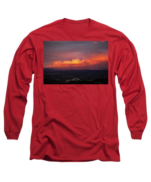 Vivid Verde Valley Sunset Long Sleeve T-Shirt by Ron Chilston