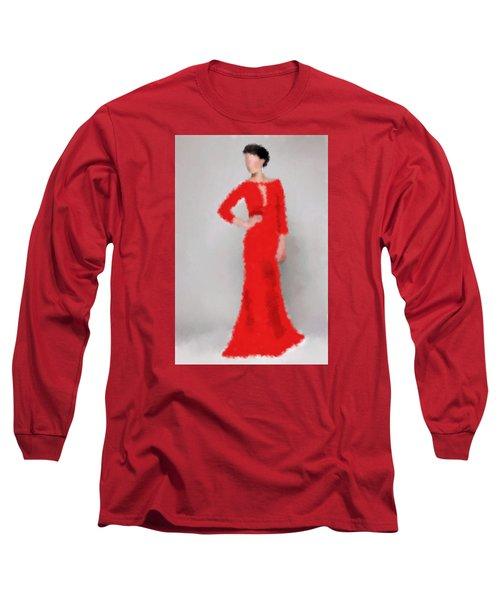 Long Sleeve T-Shirt featuring the digital art Vivienne by Nancy Levan