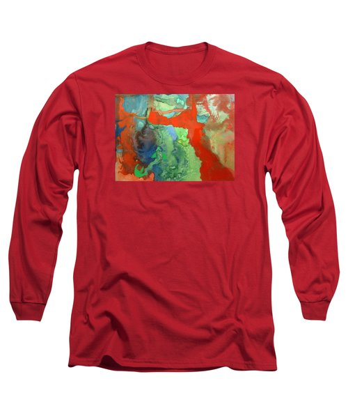 Volcanic Island Long Sleeve T-Shirt by Mary Ellen Frazee