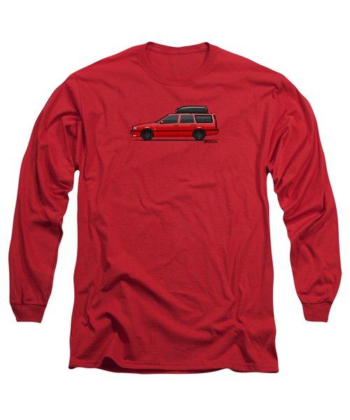 Volvo 850r 855r T5-r Swedish Turbo Wagon Red Long Sleeve T-Shirt