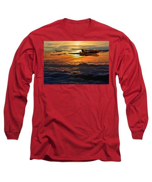 Vulcan Bomber Sunset 2 Long Sleeve T-Shirt by Ken Brannen
